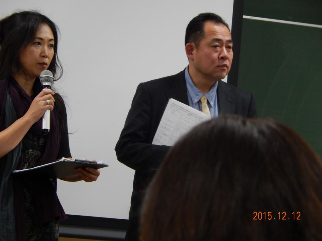 司会進行の長谷川さん(右)と井上さん(左)